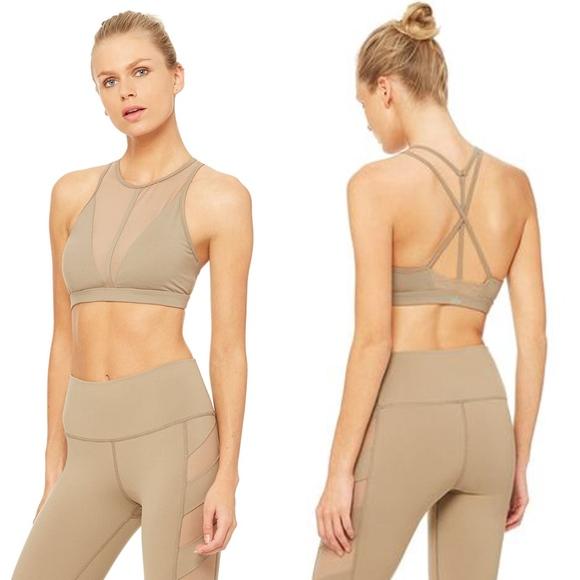 cd6ab024b8 NWT Alo Yoga empower sports bra (gravel)